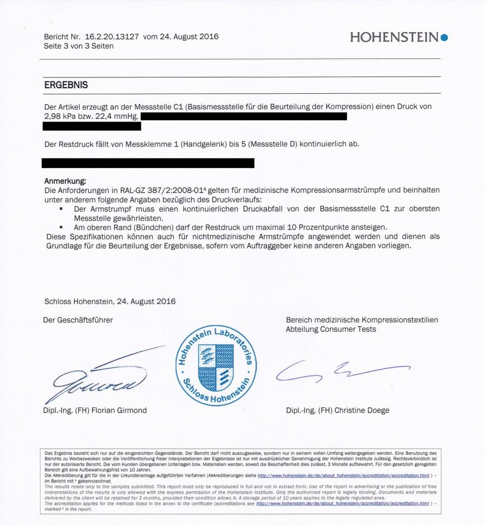 compression test hohenstein institute vertics sleeves